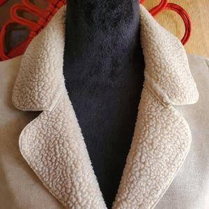 J. Jill long faux suede coat